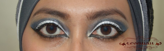 Black and White Cut Crease eyes only