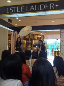 The Host and Mrs. Priscil as the product management of Estee Lauder