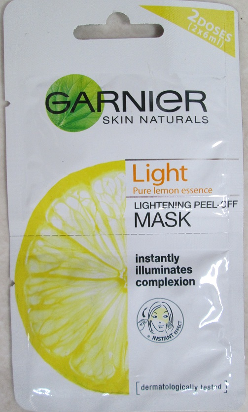 Garnier Peel Off Mask Cover