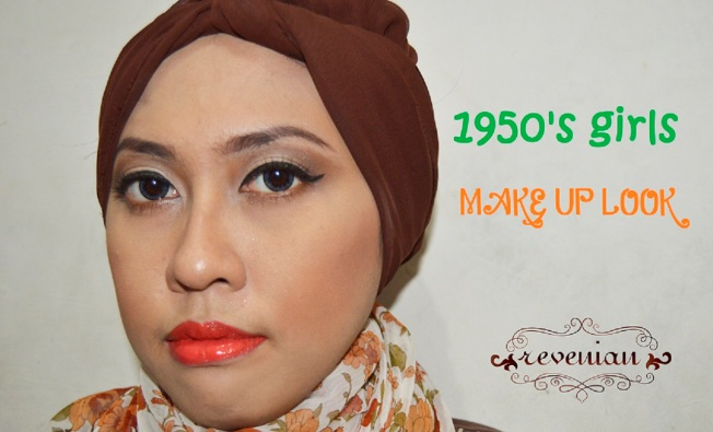 1950's Girls Make Up Look