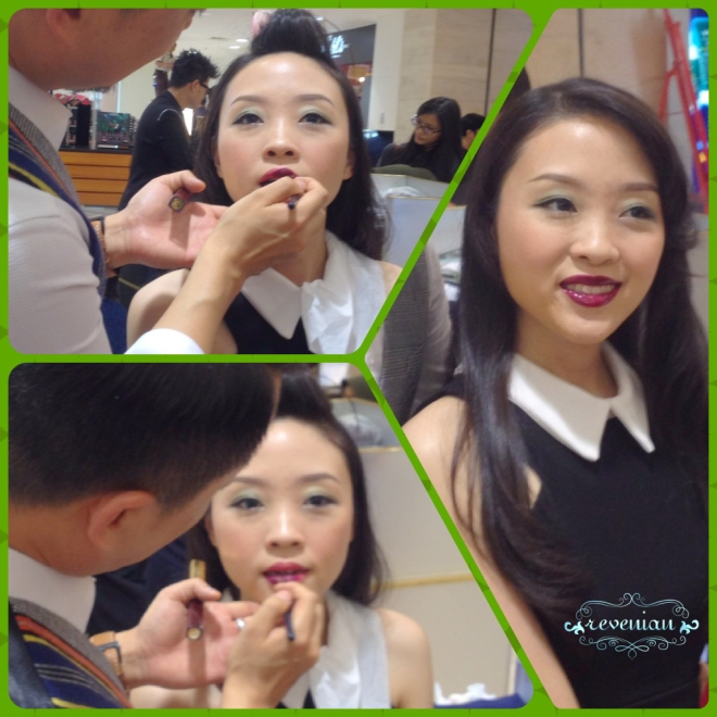 Mr. Xu last beauty step for night out: add statement lips!