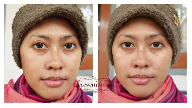 Make Over Corrective Base Make Up Green - on my face