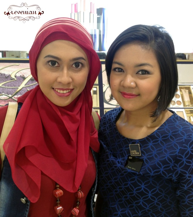 Make Over Result with Ms. Ezy. Too Bad that Mr. Xu had a queue so I decided to do the make over with her. :)